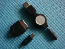 Retractable USB Data Cable Sync &Charger for Micro USB Phone &Apple iPhone 3G 4S