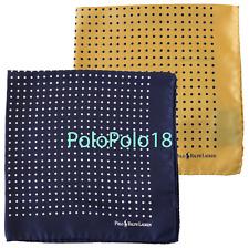 Polo Ralph Lauren Silk Pocket Square Dot Handkerchief Italy