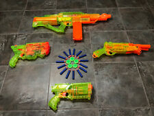 Sonic Green Nerf Lot Vortex Vigilon, Barrel Break, Maverick Rev-6, Stampede