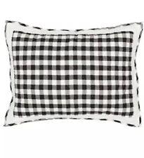 """VHC Brands Annie Buffalo Plaid Standard Pillow Sham 21""""x27"""" Black & White"""