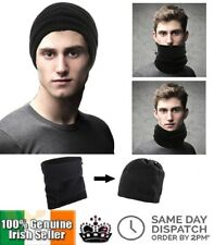 Multi Use Polar Fleece Snood Hat Neck Warmer Beanie Balaclava Ski Face Mask 3in1