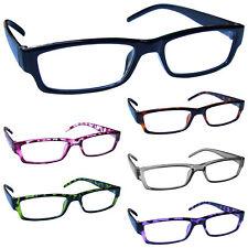 Reading Glasses Mens Womens Lightweight Designer Style UV Reader
