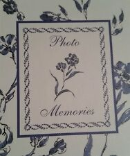 Photo Album & Journal New Seasons Memories Blue Floral Design Photos Size 4x6