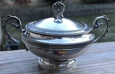 Vtg Italy Italian Covered Sugar Bowl Acanthus Leaves 800 Silver Sterling 293 G