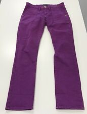 JUICY COUTURE dark wine purple straight crop jeans sz 27 (29x28)