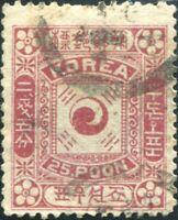 Korea Empire 1895 SG9 25p rose-lake FU