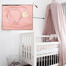 Pink Mosquito Net Round Dome Canopy Tents Bedding Baby Kids Gifts Cotton Netting