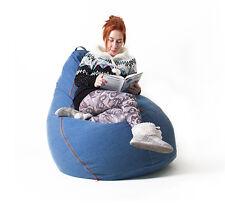Denim Bean Bag Chair Adult New Free Shipping No Tax
