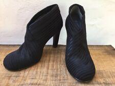 "United Nude EU 40 Black Fold Hi Stretch Booties Shoes 4"" Heel"