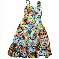 Nicole Miller Collection Multi Color Silk Dress Womens Small Regular