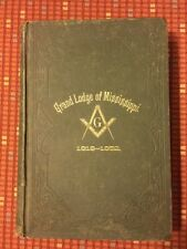 RARE 1882 Proceedings Grand Lodge of MISSISSIPPI Freemasons Masonic Jackson, MS