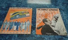 Sheet Music 1930's Donkey Serenade & I've Got a Feelin Your Foolin