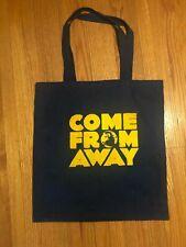 """""""Come From Away"""" Broadway musical memorabilia Theatre cotton tote"""