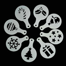 8pcs Christmas Tree Cake Stencil Wedding Party Cookie Mould Cupcake Decoration L