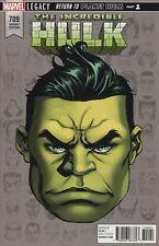 INCREDIBLE HULK #709 MCKONE LEGACY HEADSHOT VARIANT LEGACY MARVEL COMIC BOOK 1