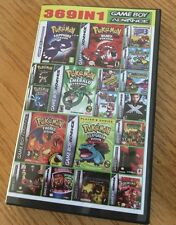 Nintendo Gameboy Advance Super 369 in 1 Cartridge Pokemon Mario Megaman GBA NDS