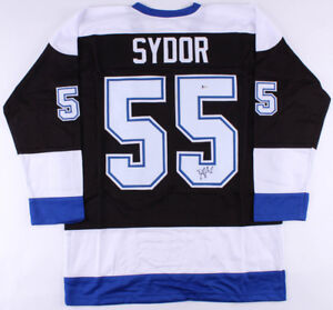 Daryl Sydor Signed Lightning Jersey (Beckett)2004 Tampa Bay Stanley Cup Champion