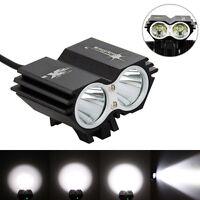SolarStorm 6000LM 2x XML T6 LED Bike Bicycle Light Lamp Headlight Headlamp Black
