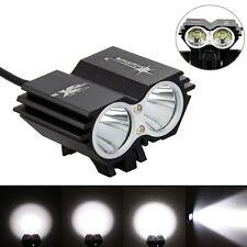 SolarStorm 5000Lm 2x XM-L T6 LED Bicycle Bike Lamp HeadLight 4x18650+Rear Light