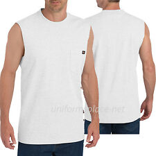 Dickies Sleeveless T shirt  Men Pocket Muscle Tee shirt WS455 Cotton Plain Color