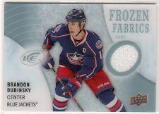 2014-15 Upper Deck ICE Frozen Fabrics Brandon Dubinsky Jersey Card