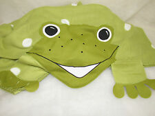 HTF IKEA FROG FLEECE BLANKET EUC SPOTTED GREEN THROW FABLER GRODA