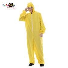 Adult Men Biohazard Jumpsuit Costume with Goggles Halloween Cosplay Fancy Dress