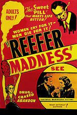 Reefer Madness 1930s Cult Classic Movie Wall Art Poster Weed Pot Dope Hippie Art