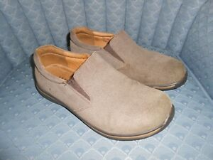 Alegria Brown Suede Leather Slip-On Shoes, 41, Women's 10 wide or Men's 8