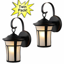 Oil Rubbed Bronze Outdoor Patio/Porch Exterior Light Fixtures-Twin Pack :21-2687