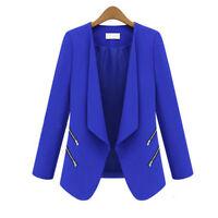 Women Lady Casual Long Sleeve Coat Suit Slim Tops Blazer Business Jacket Outwear