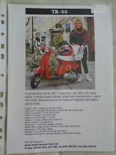 Hongdu TB-50 moto brochure c1993 texte anglais