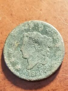 1830 Coronet Head Copper Large Cent      INV07     PL7103