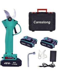 careslong Elektrische Schnittschere Gartenschere, kabellos,wiederaufladbare 2PCS