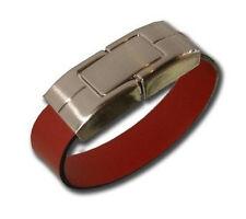 Chiavetta USB 4GB 4 GB pelle bracciale marrone con acciaio inox gatged REGALO