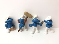 Schleich Peyo Smurf Collectable Figures X4 Made Germany