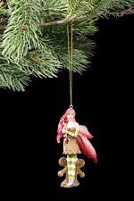 ornement de l'arbre Noël - Rouge ELFE AVEC DEUX pain d'epice - Mignon figurine