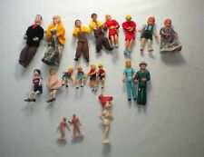 New ListingVintage Lot of 14 Mini Bendable Miniature Dollhouse Dolls/Family + Other Dolls