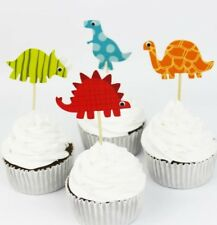 DINOSAURS Cupcake Toppers, Cake Picks, Paper Cake Toppers Cake Decorations