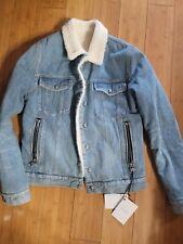 Authentic Balmain Wool Denim Jean Jacket NWT Mens L $1950 rl coat