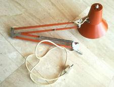 ELUX Architekten Atelierlampe Schreibtisch Lampe Gelenklampe ROT 60er/70er