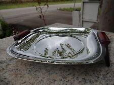 Vintage GLO HILL GOURMATES Mid Century Chrome Tray Bakelite Handles Atomic