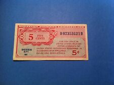 471 MPC 5 Cents, Nice Grade, 1948, Military five cents (p62)