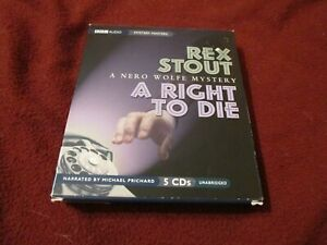 A Right to Die by Rex Stout (1996) CD Audiobook Nero Wolfe 6 hours