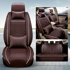Universal 5-Seats Car Auto Seat Covers SUV PU Leather Full Front Rear Protector
