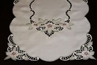 Embroidered Lace Placemat Table Runner Wedding Party Home Decor Dresser Scarf