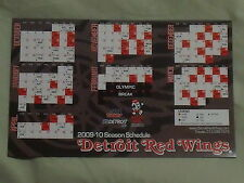 2009-10 Detroit Red Wings (NHL) Belle Tire team issued magnet schedule