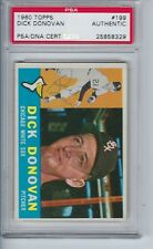 Dick Donovan autographed signed 1960 Topps # 199 AUTO PSA/DNA