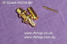 Microdot Compatible Connectors, female, 10-32, Bulk Head Fits RG316, RG174