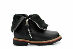GIRLS BLACK ANKLE MID KNEE WINTER SCHOOL ZIP UP BOOTS,UK 8-2 HAYLEY